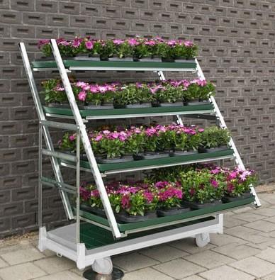 Displaysystem Schrägsteller für Pflanzenwagen DC Container