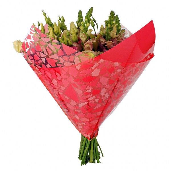 Blumentüten 35/35 Oblique Mosaic rot (25 Stück)