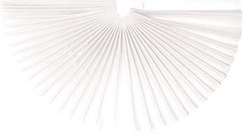 Plissee-Manschetten 245mm weiß 100 Stück