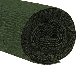Krepppapier 160g 50x250cm dunkelgrün 5 Stück