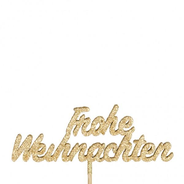 Beistecker Banner Frohe Weihnachten 4x10cm 50cm (25 Stück)