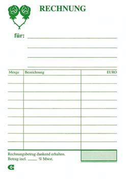 Rechnungsblock A6 5x100 Blatt