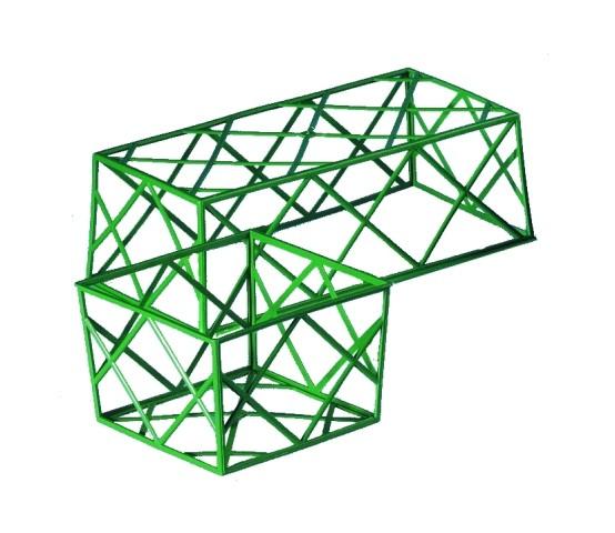 Stülpgitter grün 12x12 20 Stück