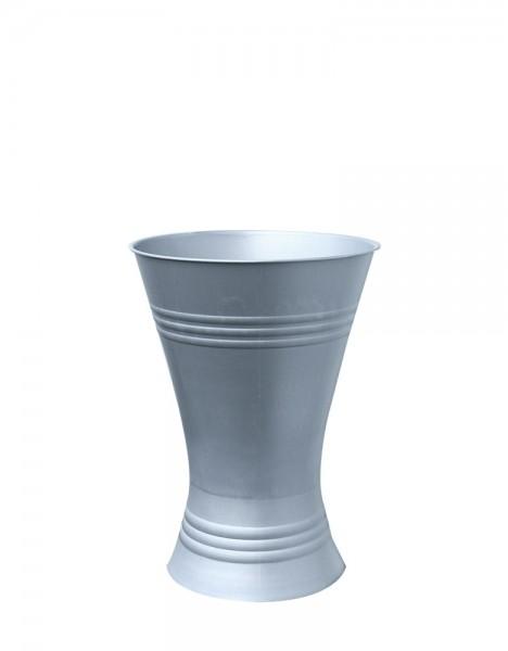 Floristenvase X-Form 28cm Zink