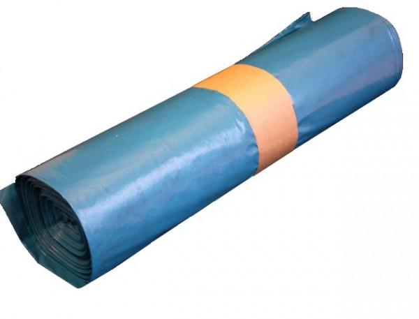 Abfallbeutel HDPE 90x110cm 30µm blau 25 Stück