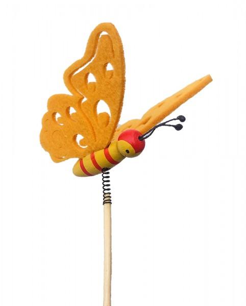 Beistecker Schmetterling Filz orange (10 Stück)
