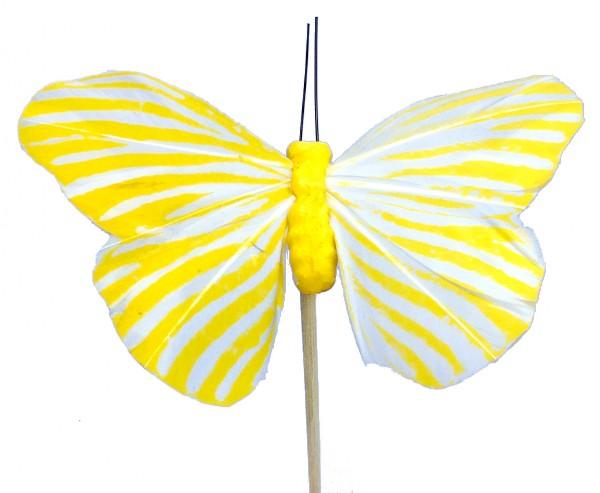Beistecker Schmetterling Monarch gelb 7x11cm (25 Stück)