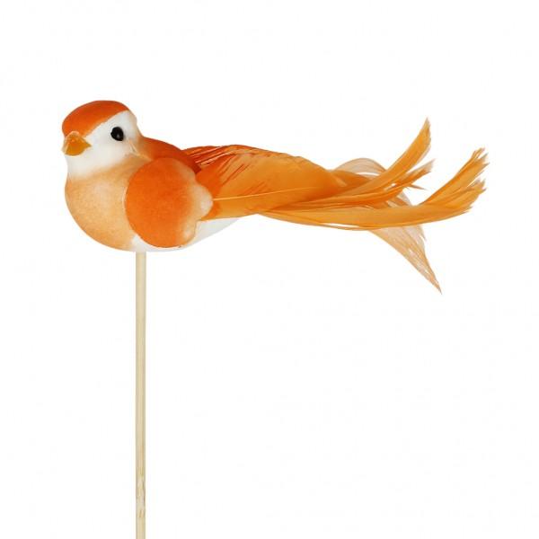 Beistecker Vogel Pájaro 11x4cm orange (25 Stück)