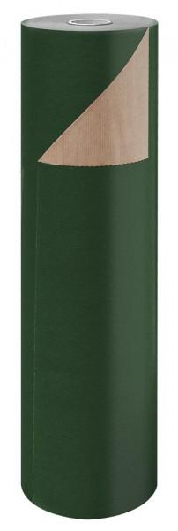 Blumenpapier Rolle 60cm 50g Braun Kraft dunkelgrün 12kg
