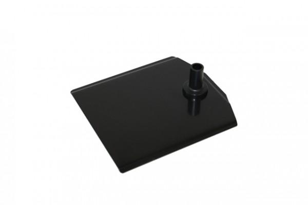 Plakatrahmen Fußplatte Metall schwarz