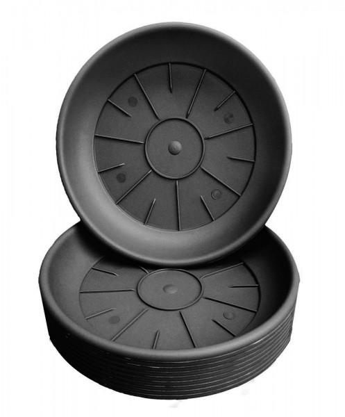 Untersetzer Domus 14cm schwarz (10 Stück)