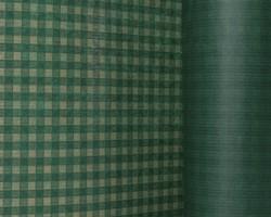Manschettenpapier 25cm/100m Karo grün auf braun