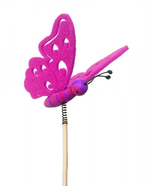 Beistecker Schmetterling Filz rosa (10 Stück)