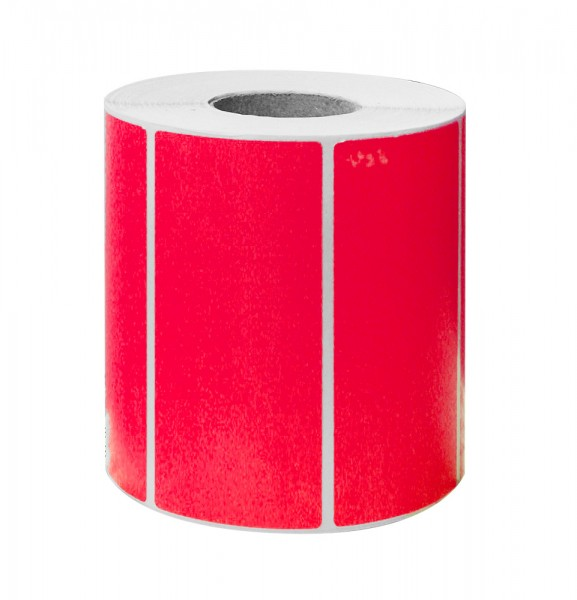 Etikett 100x50 fluor rot 1000 Stück