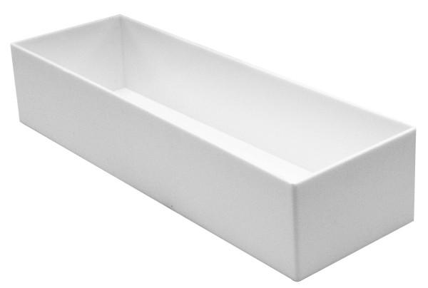 Steckschale weiß rechteckig 25x8x5 10 Stück