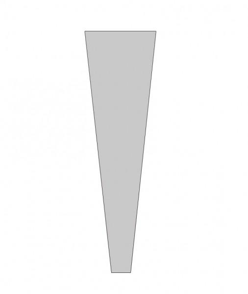 Rosentüten 65/13/3 OPP40 transparent (50 Stück)
