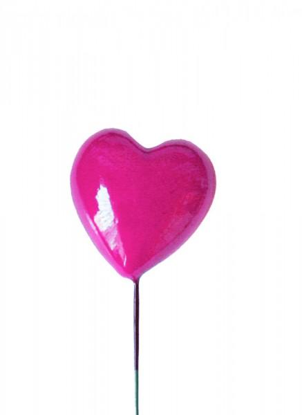 Beistecker 25cm Herz 3x3 pink (48 Stück)