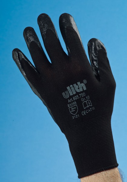 Handschuhe Feinstrick Ulith schwarz Gr. 10