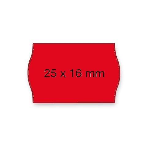 Etiketten Contact 25x16mm rot Fluor G2 Permanent 1100 Stück