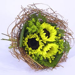 Bouquethalter Woody 20cm braun 100 Stück