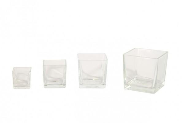 Glaswürfel transparent 8x8x8cm