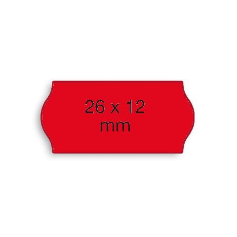 Etiketten Contact 26x12mm rot Fluor G2 Permanent 1500 Stück
