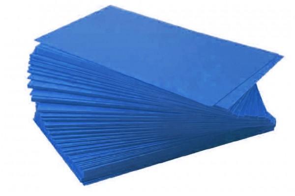 Ersatzschilder 110x65mm blau (100 Stück)