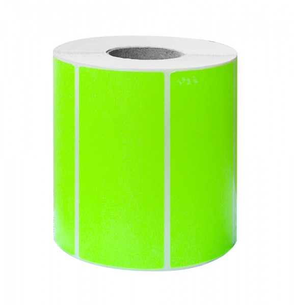 Etikett 100x50 fluor grün 1000 Stück
