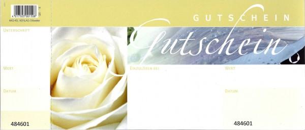 Gutscheine weiße Rose (50 Stück)