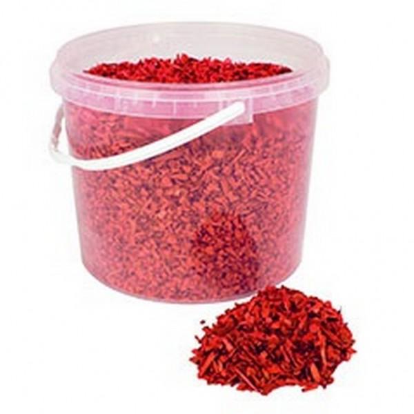 Deko Holzchips rot (10 Liter)