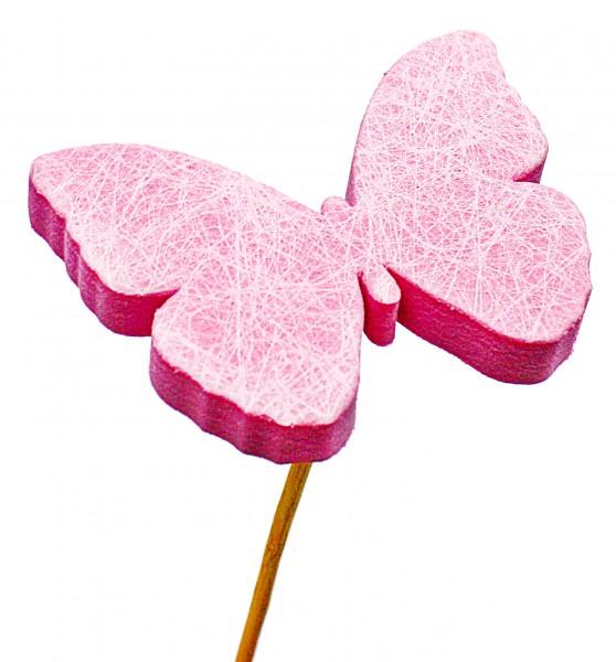 Beistecker Schmetterling Schaum pink 7cm (25 Stück)