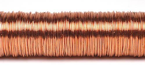 Decodraht Kupfer hochglänzend 0,55mm/100g