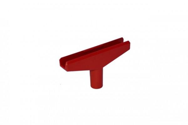 Plakatrahmen T-Stück 90mm rot