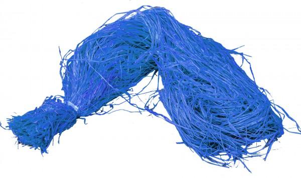 Raphia Bast gefärbt blau 500g