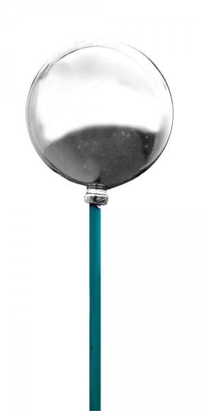 Kugel 6cm auf Stock 50cm silber glänzend (10 Stück)