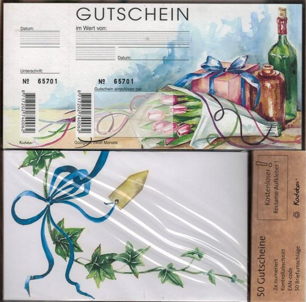 Gutscheine Kadobox Tulpe&Flasche (50 Stück)