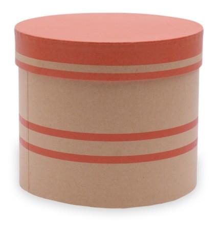 Hutschachtel foliert d=15cm x h 13cm Duo Lines rot-orange