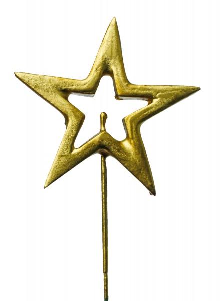 Beistecker OTH Stern Styro offen gold (24 Stück)