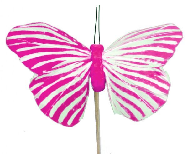 Beistecker Schmetterling Monarch rosa 7x11cm (25 Stück)