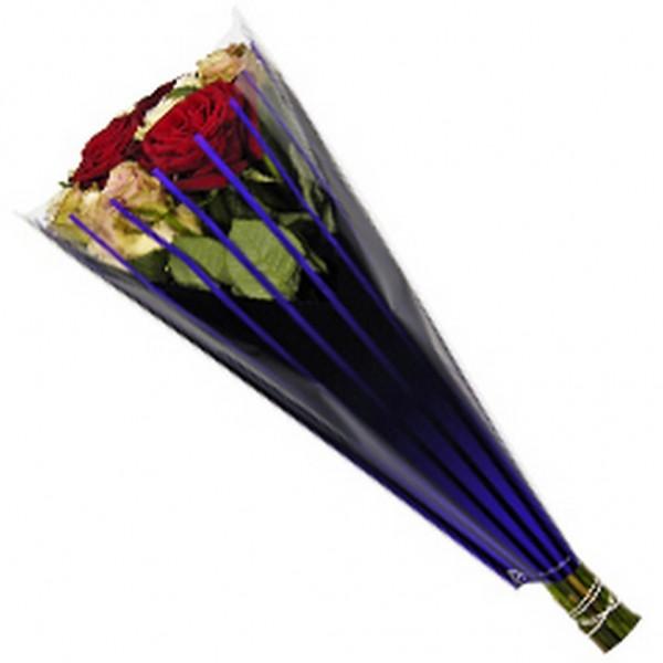 Blumentüten 50/35/10 Duo lines purple/schwarz (50/1500)