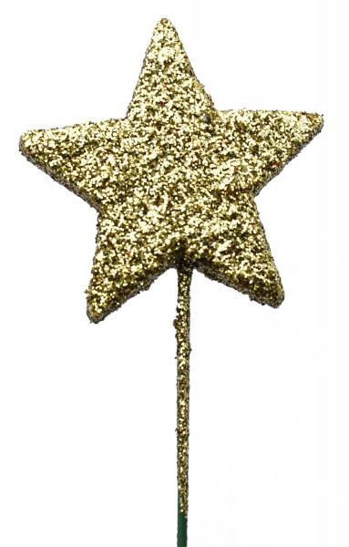 Beistecker OTH Stern Glitter gold (60 Stück)