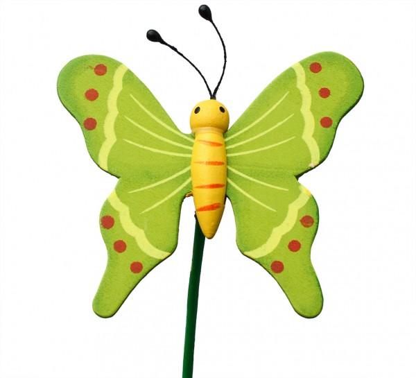 Beistecker Schmetterling auf Stock 7/50cm grün 25 Stück