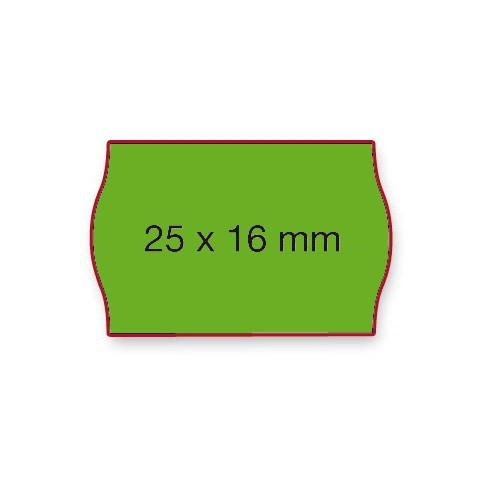 Etiketten Contact 25x16mm grün Fluor G2 Permanent 1100 Stück