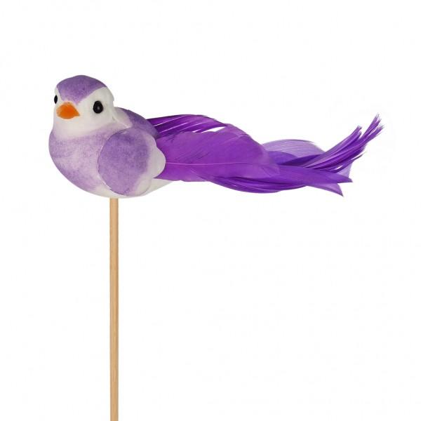 Beistecker Vogel Pájaro 11x4cm lila (25 Stück)