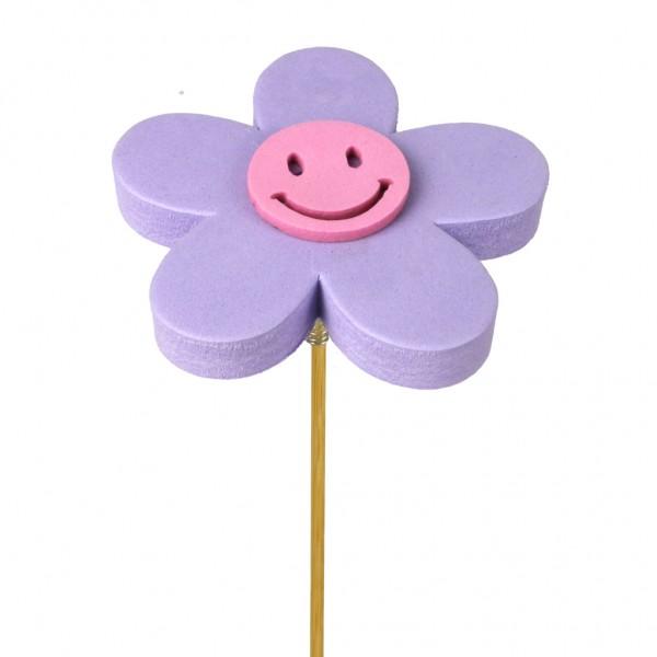 Beistecker Blume Happy 7cm lila (25 Stück)