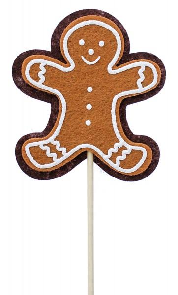 Beistecker Pfefferkuchen Mann Filz 7x8cm (8 Stück)