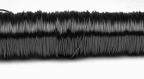 Decodraht schwarz hochglänzend 0,55mm/100g