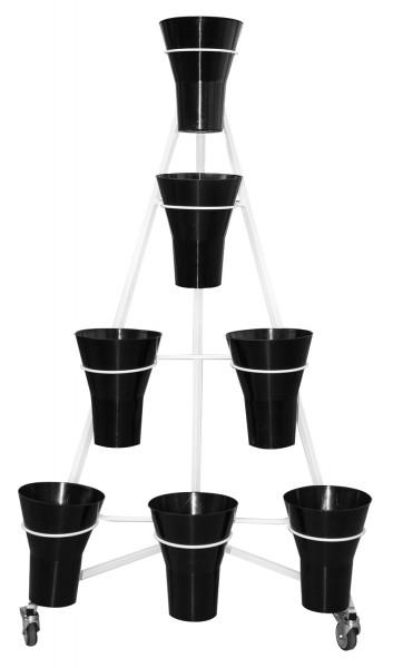 Blumenwagen 7 Vasen Y-Form w/s