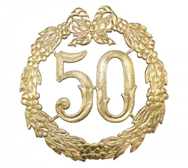 Jubiläumszahl 50 gold 24cm