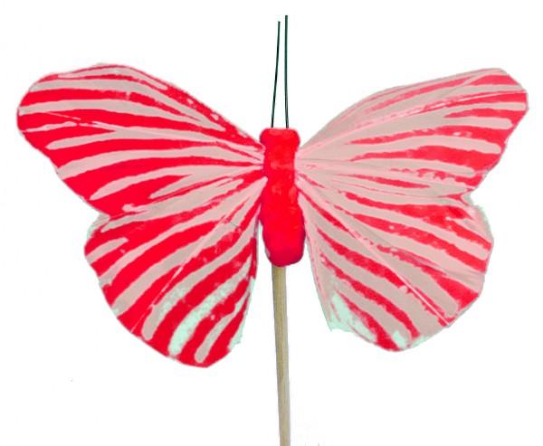 Beistecker Schmetterling Monarch rot 7x11cm (25 Stück)